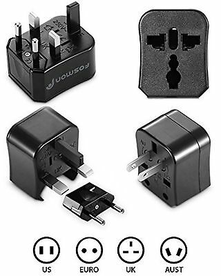 Fosmon Universal World Wide International Charger AC Travel Power Adapter Plu...