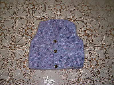 New Hand Knitted Baby Vest Mauve  3 -6   Months App