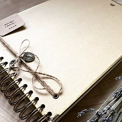 Handmade Personalised Memory Book/ Scrapbook/ Photo Album/ Guest Book A4 Luxury