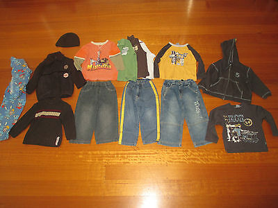 14 Boys Assorted Pieces Including Jumper, Pumpkin Patch Jeans, Jacket - Size 3