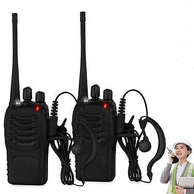 Walkie Talkie UHF 400-470MHZ Portable 2-Way Radio USB Charger+Earpiece