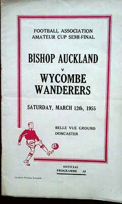Bishop Auckland V Wycombe Wanderers 12/3/1955 Fa Amateur Cup Semi Final
