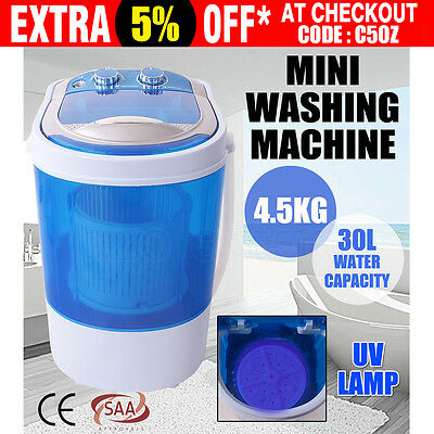 New 4.5kg Portable Mini Washing Machine Top Load Campervan Caravan Camping Home