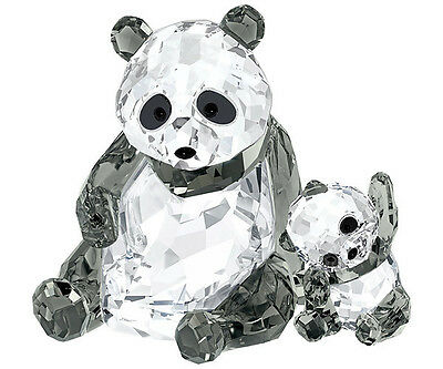Swarovski Crystal Panda Mother and Baby Cub 5063690 Brand New In Box