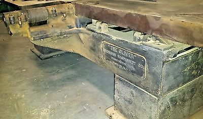 "1900-1903 Vintage Oliver American Machine Co 30"" Jointer Planer Woodwork Old"