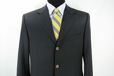 Canali Italy 3 Btn Men's Sport Coat Jacket Navy Blue Blazer Wool 42 L US
