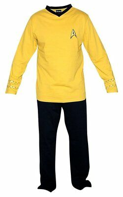 Star Trek Captain Kirk Men's Gold Union Suit L