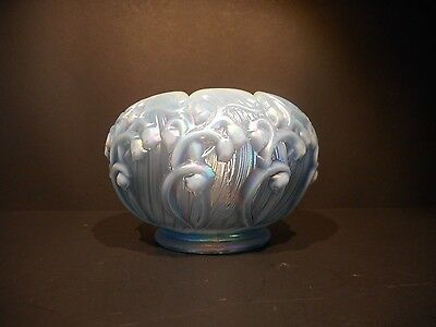 "Fenton MISTY BLUE Rose Bowl 5½"" 8453 LR"