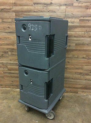Cambro UPCH800 Camcart Two Compartment Heated Holding Pan Carrier w/ Casters
