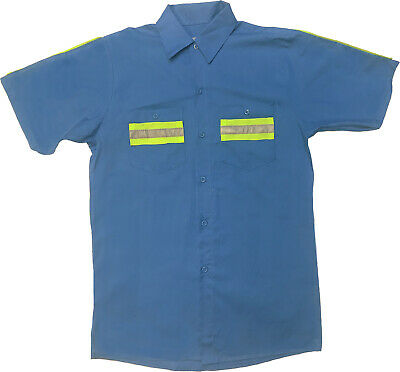 NEW! Enhanced Visibility Shirts Hi Vis Reflective Work Uniform 100% Cotton!