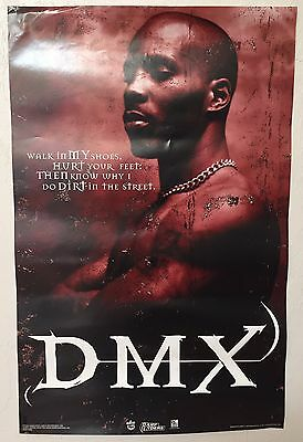 """DMX Vintage """"Its Dark & Hell Is Hot"""" Large Poster 1998"""