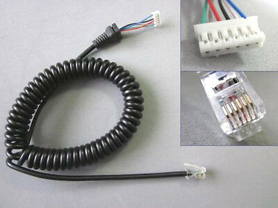 Mic Cable For Yaesu Microphone MH36B6J MH-48A6J mic replacement cord