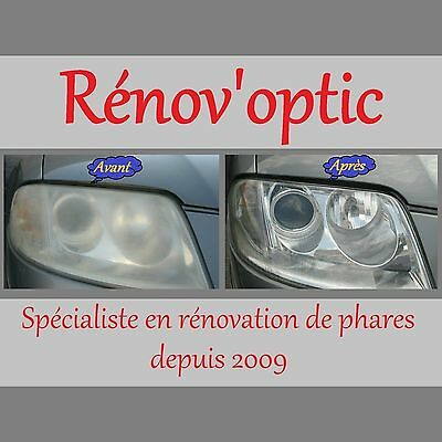 Kit Réfection Pro Optique / Glace De Phare Polycarbonate Complet Et Universel