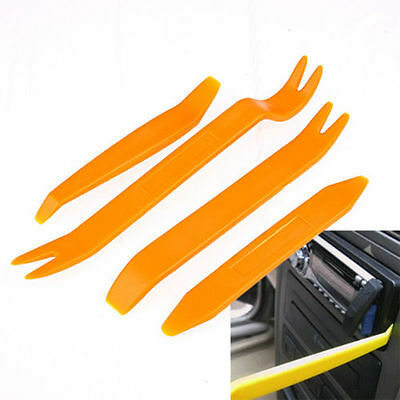 4* Plastic Car Auto Radio Door Clip Panel Trim Dash Audio Removal Pry Kit Tools