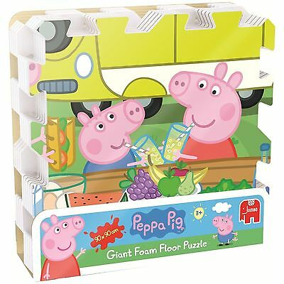 Peppa Pig Floor Puzzle Giant Foam Pieces 90x90cm Childrens Toy