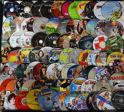 Wholesale Lot of 100 Used Assorted Bulk DVD Disc Only No Duplicate Free S&H