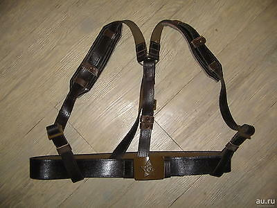 Soviet Army Military Soldier Belt with Shoulder Strap Canvas Impegnated New