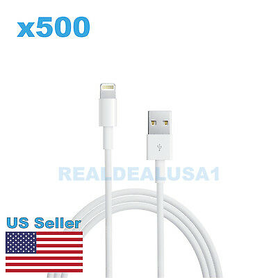 Lot of 500 8-Pin lightning Cable to USB Cord for Charging Apple iPhones 7 6s 6 5