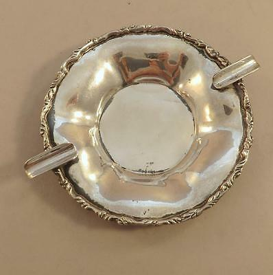 "Juvento Lopez Reyes Sterling 6"" Ash Tray Mexico Flouncy Edge"