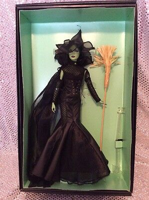 Wizard Of Oz Glamour Wicked Witch 75Th Anniversary Barbie Doll Gold Label Bcr04