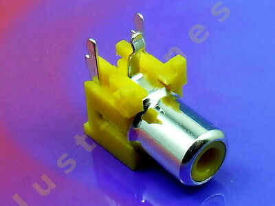 RCA PCB Connector Buchse 1 Weg / way  AUDIO   - GELB / YELLOW #A617