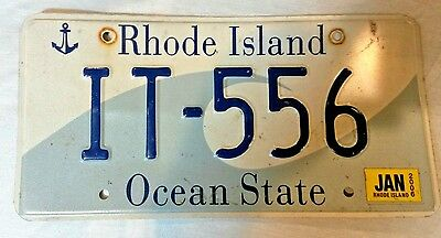 2 (Two) 2006 RHODE ISLAND wave graphic license plates IT-556 - 2006
