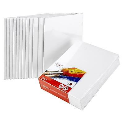 """CANVAS PANELS 12 PACK 8""""X10"""" SUPER VALUE Artist Canvas Panel Boards for Painting"""