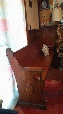 Antique Tiger Grain 6 Ft Pew Gothic Seat Bench Design from 100 year old Church
