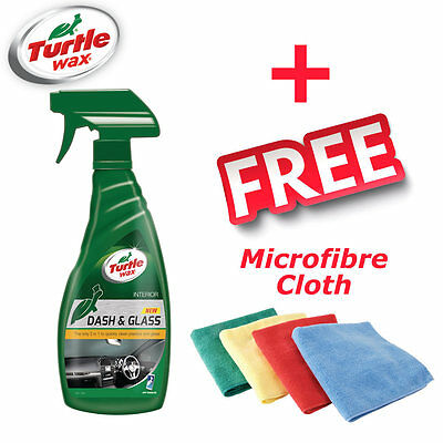Turtle Wax Dash and Glass Cleaner 500ml Trigger + FREE Microfibre