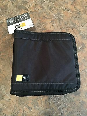 Case Logic CD/DVD Wallet, Holds 32 Discs, Black - CLGCDW32