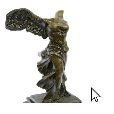 Fine French 19C Grand Tour Goddess Victory Nike On Bronze Sculpture Statue Fig