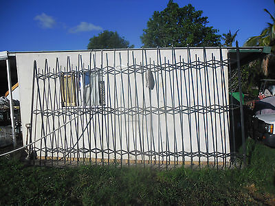 Sliding Metal Security Grills - single grill 2.5m x 4.8m approx.