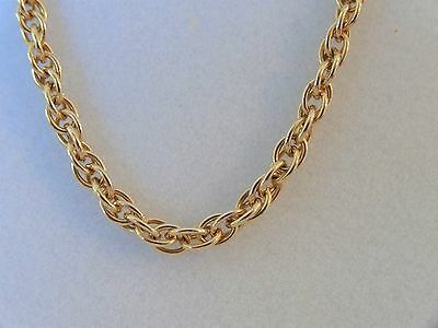 """James Avery Medium Rope Chain Necklace 14k Yellow Gold  20"""" Long"""