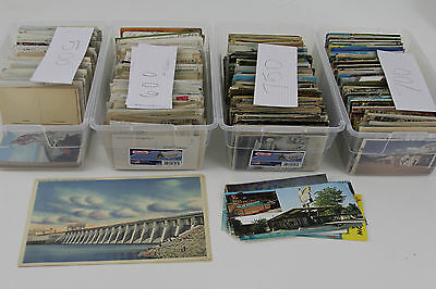 LOT OF 2500+ Vintage And Antique POSTCARDS Between 1800's - 1980's Accumulation