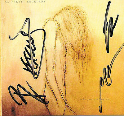 The Pretty Reckless Signed Who You Selling Cd Taylor Momsen Cd Coa Going To Hell