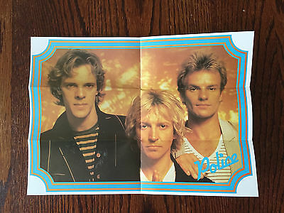 1980's The Police Rock Band Cereal Box Premium Mini Poster Sting