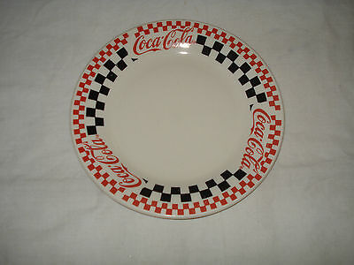 Coca-Cola Coke Plate Gibson Checkerboard Pattern 1996