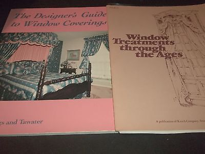 Lot 2 Books Window Treatment Through the ages & Designers Guide Window Covering