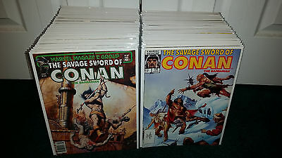 Conan The Barbarian Marvel Comics Savage Sword Magazine Lot! Robert E. Howard