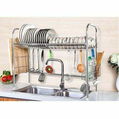3 Tier Kitchen Dish Drainer Dryer Rack Storage Stainless Steel