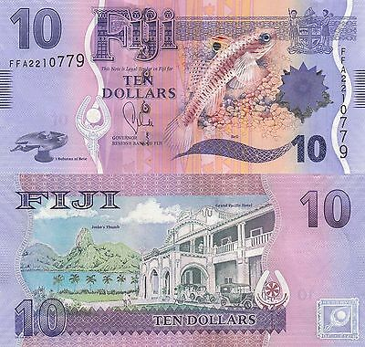Fiji 10 Dollars (2013) - Flora & Fauna Issue/p116 UNC