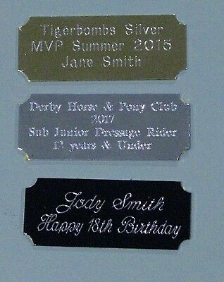 Engraved Metal Plate 47x19mm Scrapbooking,Trophies,Gift