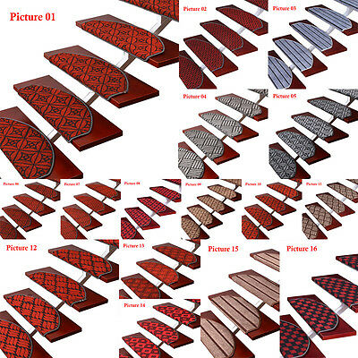 13pcs Europe Style Carpet Stair Mat Pad Staircase Rug Treads Non-slip Home Decor