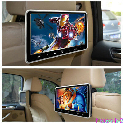 "10.1"" Car HD Headrest DVD Player USB Plug Touch Screen Rear Seat With Headphone"