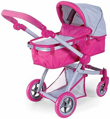 Deluxe Doll Stroller with Swiveling Wheels, Adjustable Handle and free Carria...