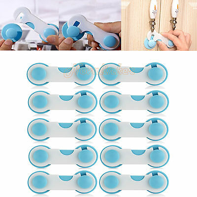 10x Kids Child Baby Safety Adhesive Locks For Drawers Cupboard Cabinet AU STOCK