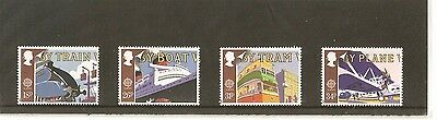 Mint Gb 1988 Royal Mail Transport And Communication  Stamp Set 4  Muh