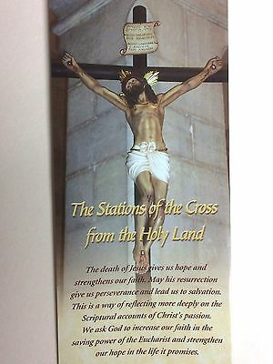 The Stations Of The Cross From The Holy Land Laminated 8 1/2 X 11 3/4 Inch