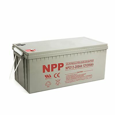 NPP  NPD12-200Ah  12V 200Ah 4D  Deep Cycle Wind Solar SLA  Battery