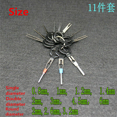 11PK Car Terminal Removal Key Tool Wiring Connector Extractor Puller Release Pin